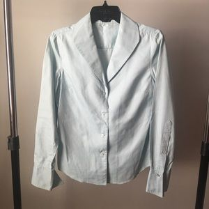 Adrienne Vittadini fitted light blue button down